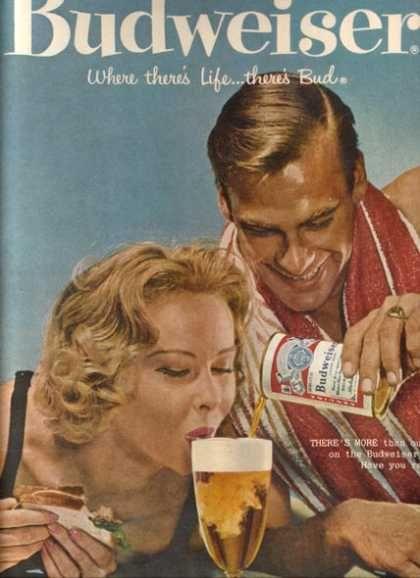 Budweiser vintage Ad 1958