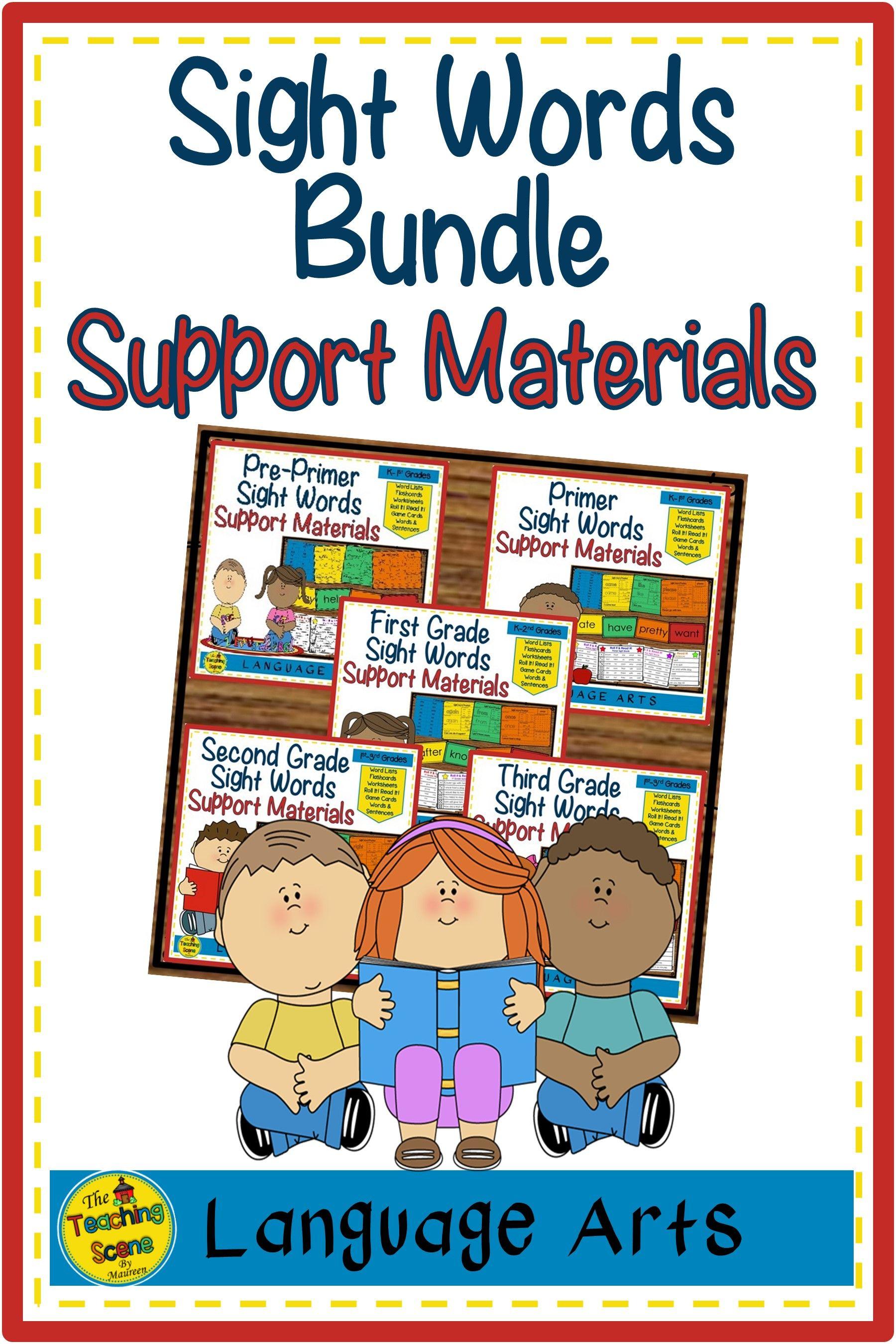 Pre Primer 3rd Grade Sight Word Bundle Lists Flashcards
