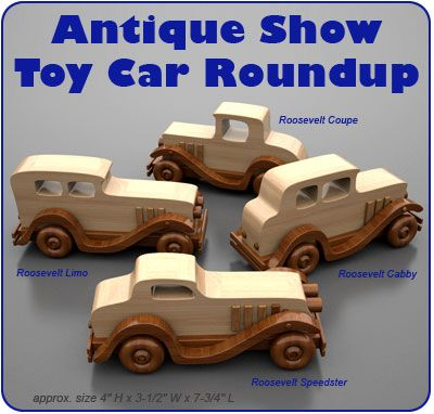 Antique Show Toy Car Roundup Wood Toy Plans (PDF Download)
