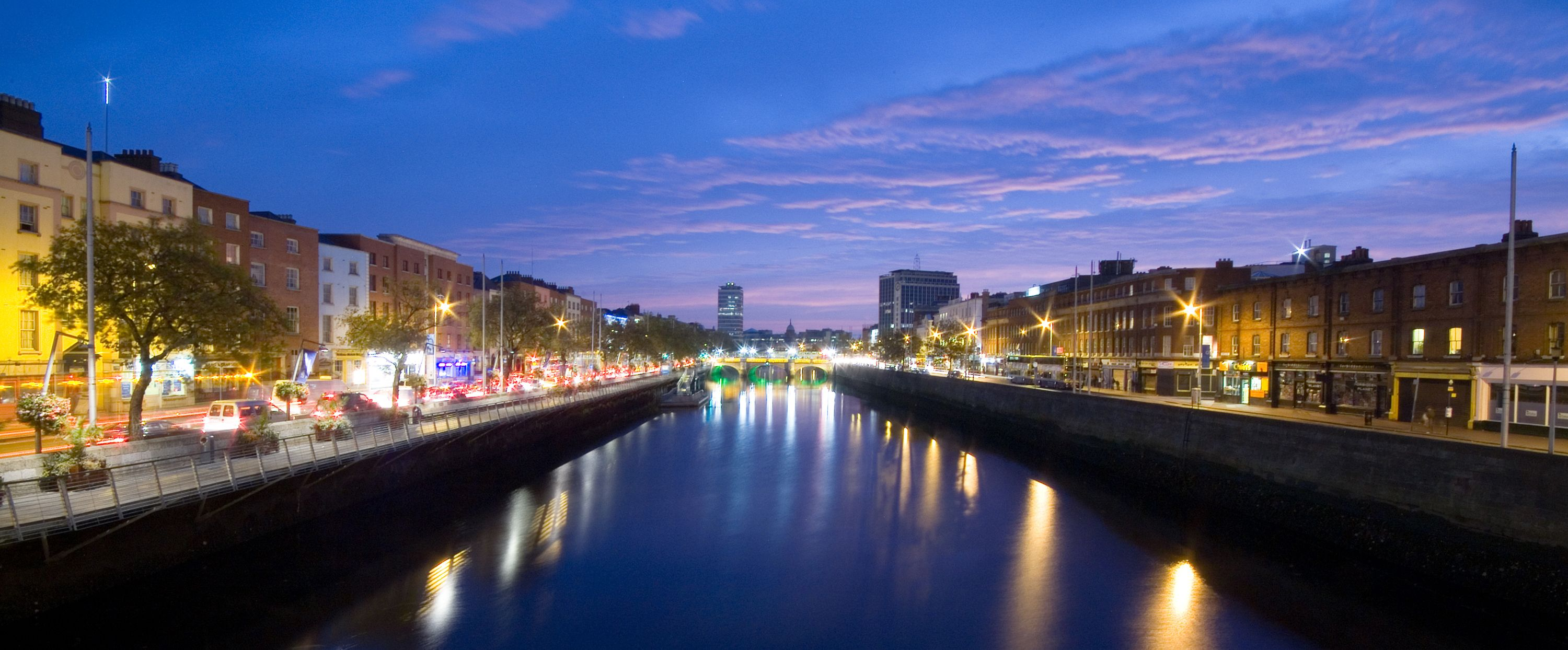 A stretch of the River Liffey looking at the O'Connell