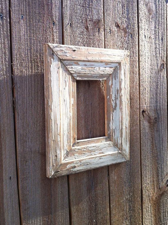 4x6 Distressed chippy paint Picture Frame by ShopSweetlySalvaged
