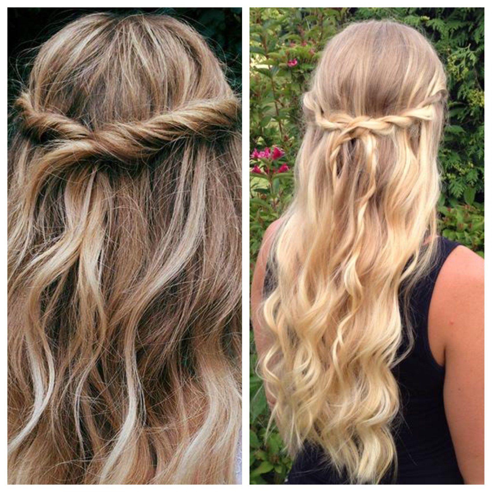 easy half up half down hairstyles   hairstyles half up