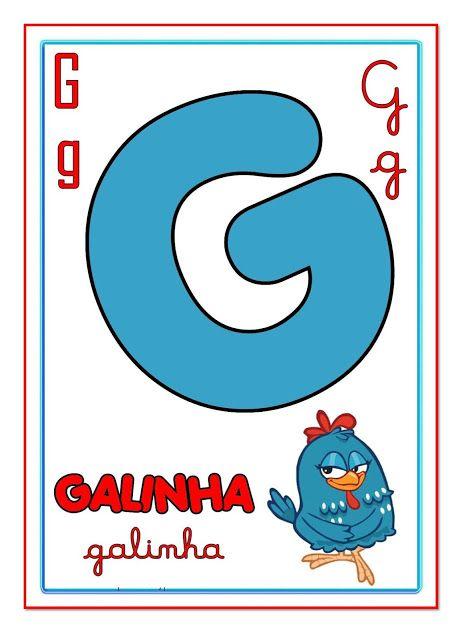 Cartazes Com Letras Do Alfabeto Ilustrado Para Imprimir