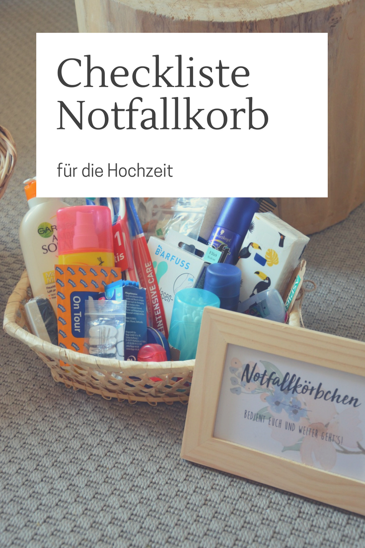 Notfallkorbchen Fur Die Gaste Unique Wedding Giveaways Ideas