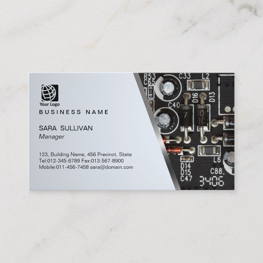 Computer Circuits Computer Service Business Card Zazzle Com Computer Service Computer Repair Business Business Card Template Design