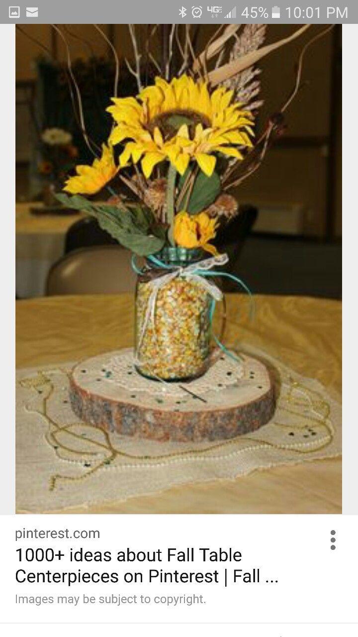 50th wedding decorations ideas  Pin by Espy Clark on Fall centerpiece  Pinterest  Centerpieces