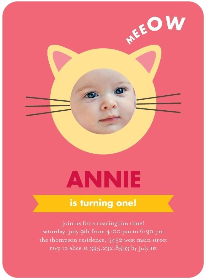 Cute kitten birthday party invitations in medium pink petite cute kitten birthday party invitations in medium pink petite alma filmwisefo Image collections