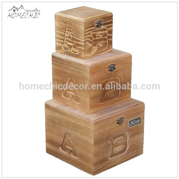 Handmade kids wooden decorative gift boxes wholesale Gift