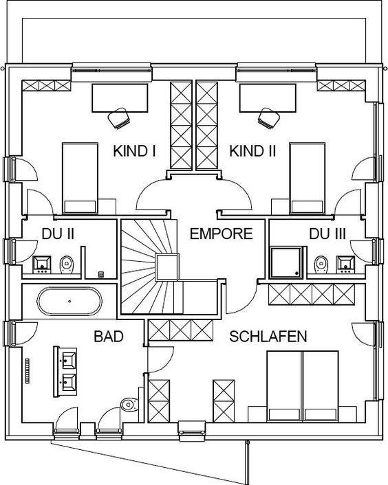 moderne stadtvilla grundriss mit 82 66 m wohnfl che im obergeschoss haus pinterest. Black Bedroom Furniture Sets. Home Design Ideas