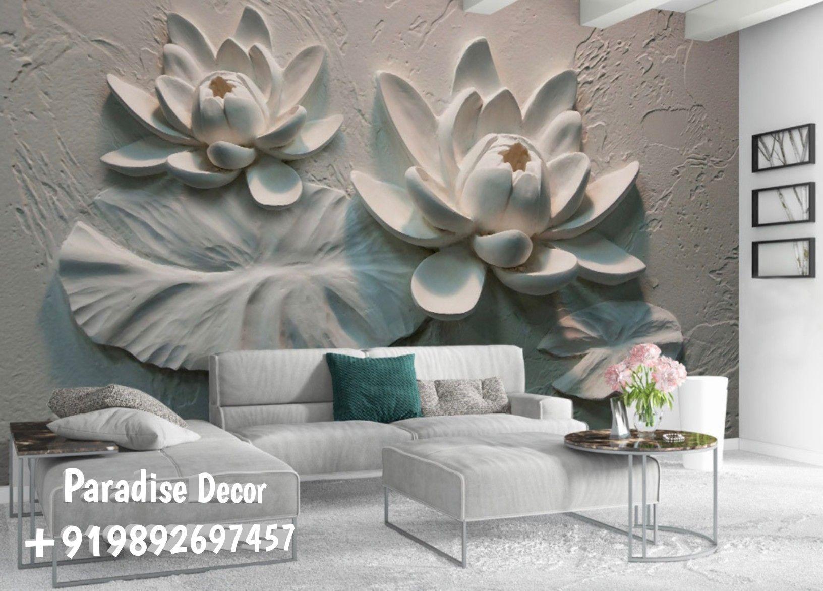 13d wallpaper,  Floral wallpaper, Wallpaper, Mural