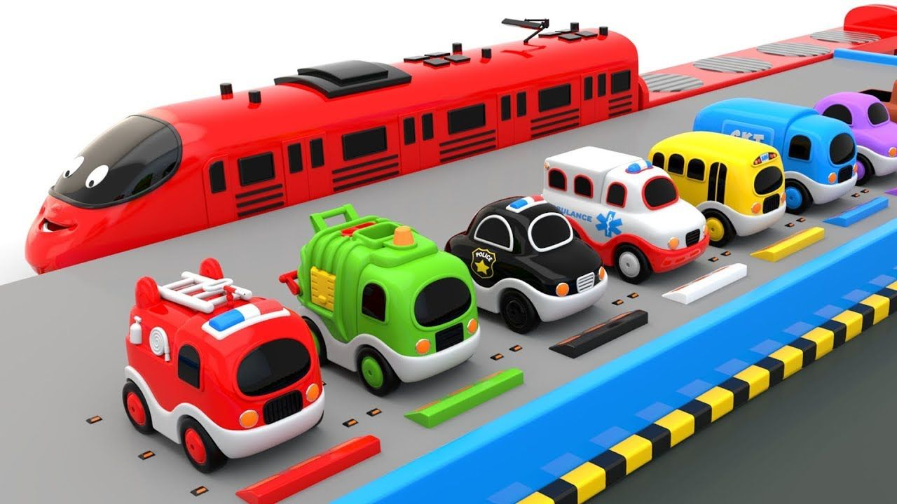 Colors for Children to Learn with Preschool Toy Transporter Train