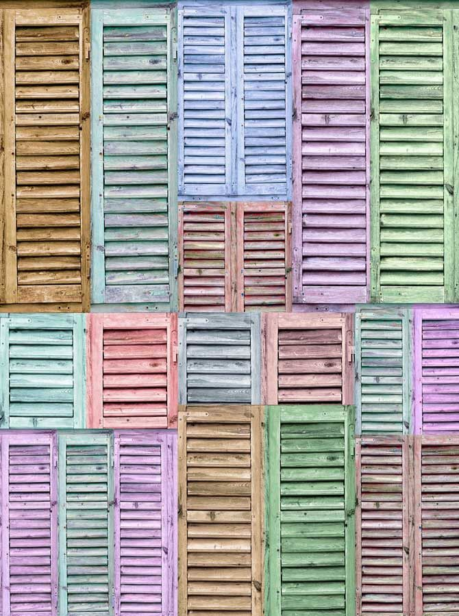 2276 Shutters Pastel Backdrop