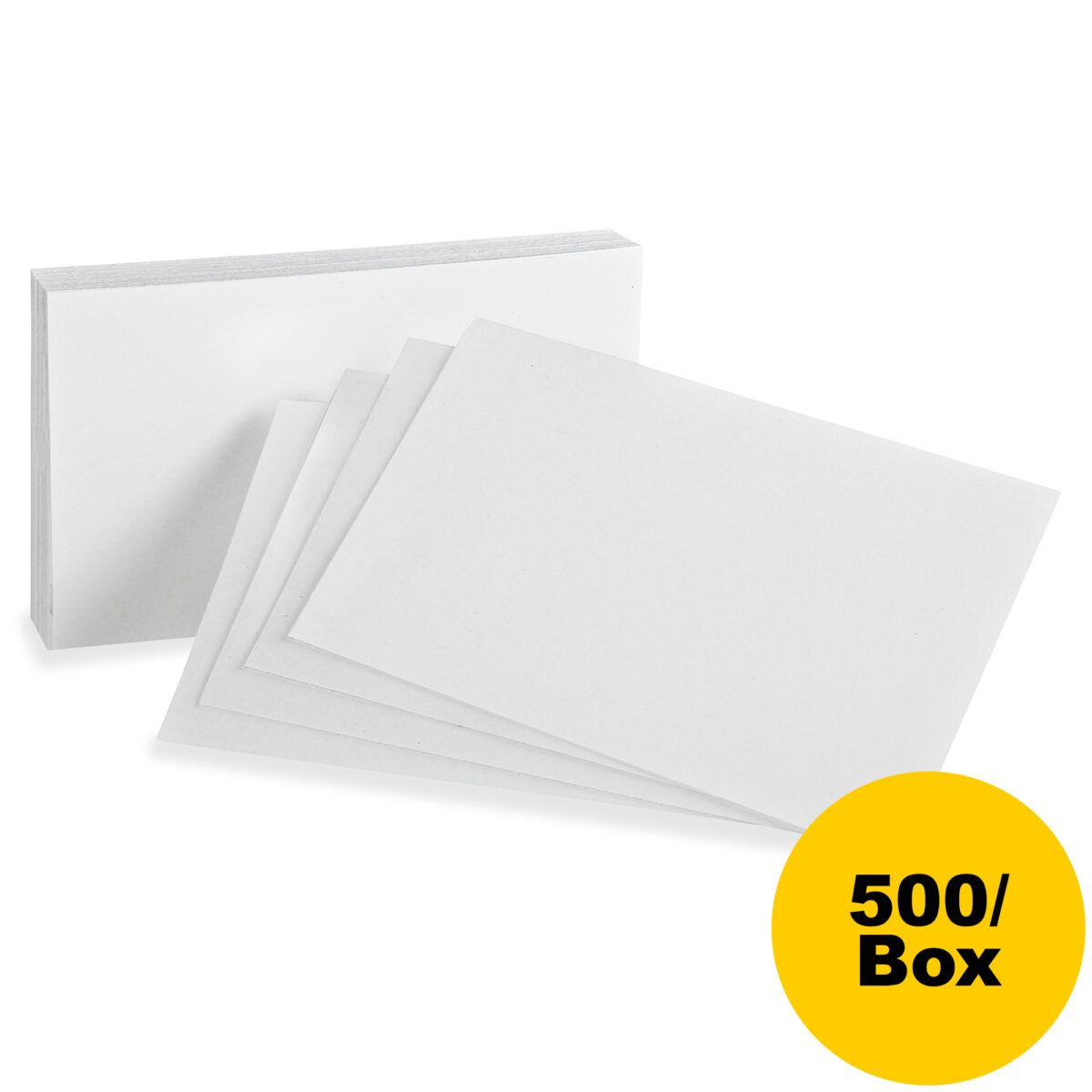 Oxford Printable Index Card 5 X 8 85 Lb Basis Weight 500 Box White Throughout 5 By 8 Index Card Card Template Note Card Template Electronic Cards