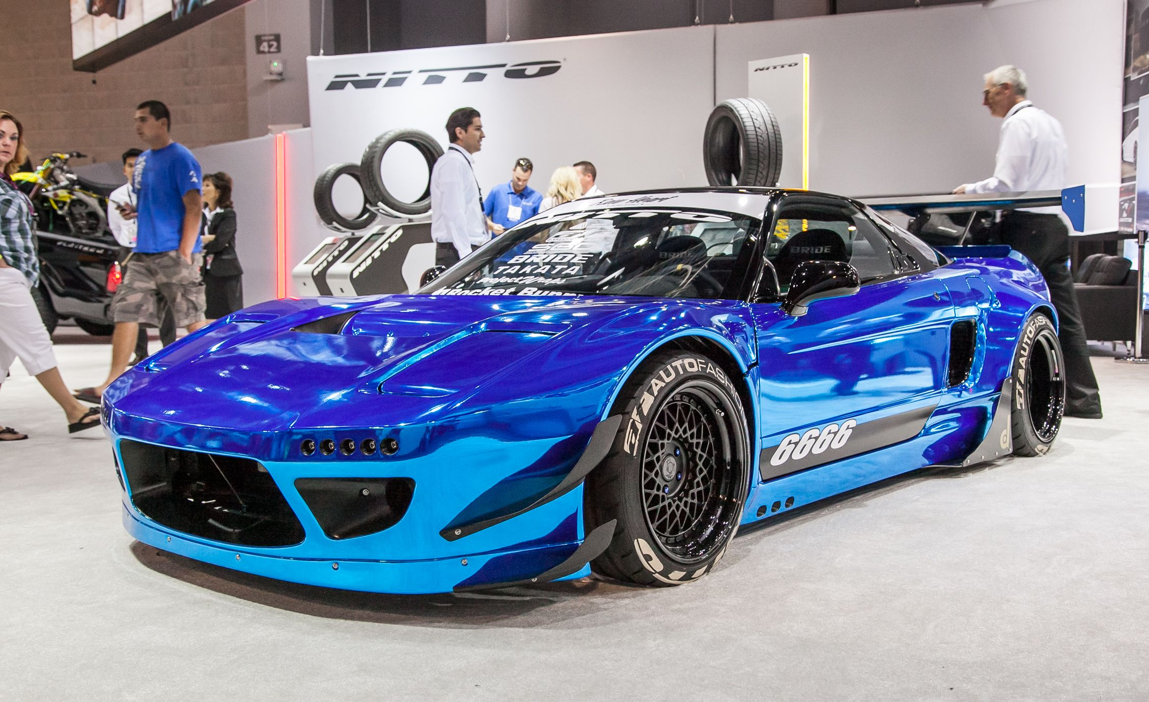 Car color kit - The Rocket Bunny Body Kit On This Early Nsx Channels The Spirit Of The Nsx Super Gt Race Cars Of The Late Nearly Perfectly The Blue Chrome Color Scheme