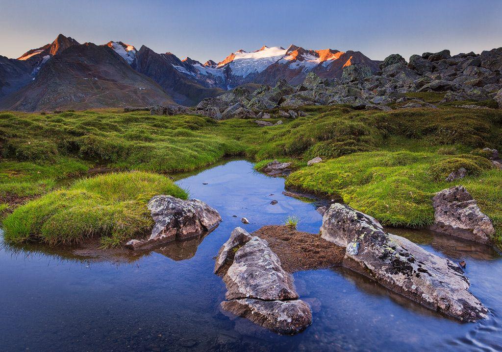 Guten Morgen Gletscher Alpen Alpengl Hen Bach Bergbach