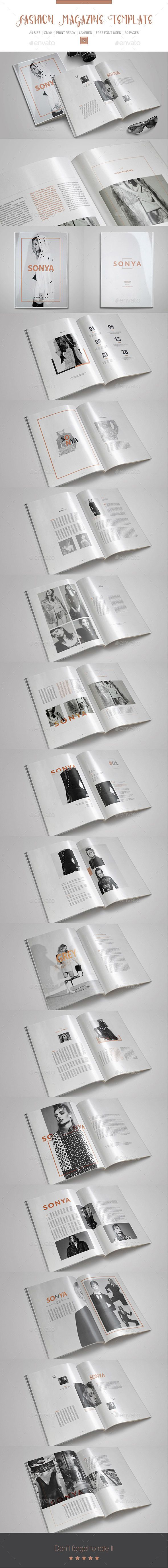 Fashion InDesign Magazine Template | Indesign magazine templates ...