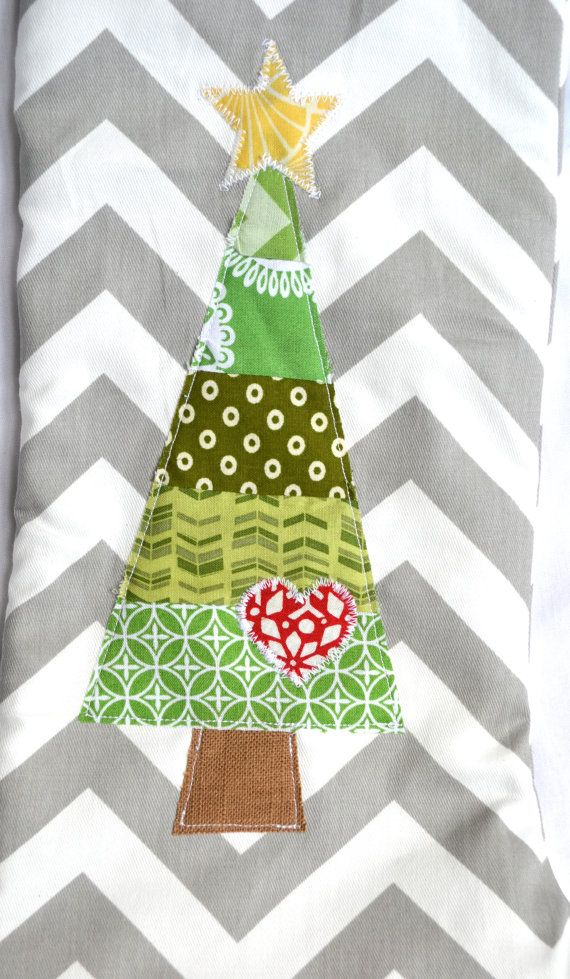 Chevron / Quilted stocking - shop has cute ideas for applique