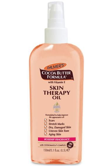 Known for their incredible cocoa butter, this Palmer's skin treat packs an equally impactful punch with this oil that heals dry skin, improves scars and stretch marks, and evens skin tone. Palmer's Skin Therapy Oil with Rosehip Fragrance ($8) Source: Palmer's