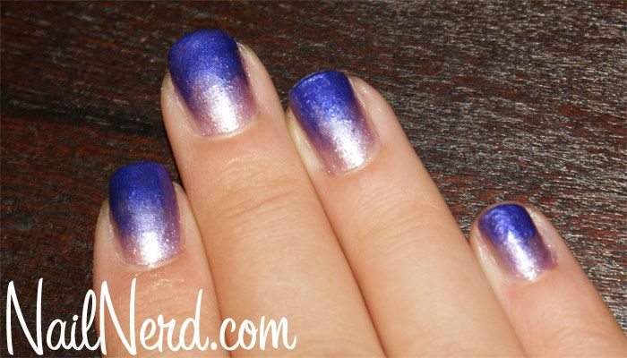 Sinful Purple Gradient Nails - This is actually a lot easier to achieve than it looks. You just need a make-up sponge and some patience!