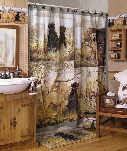 Image detail for -Lodge and Cabin Home >> Hunting Dogs Decor >> Bathroom