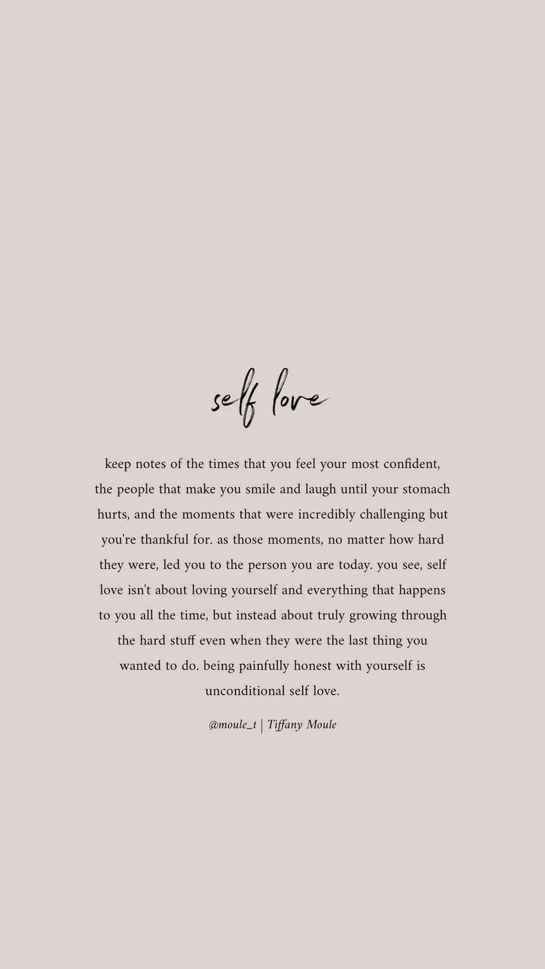 Self Love.. Quotes by Tiffany Moule