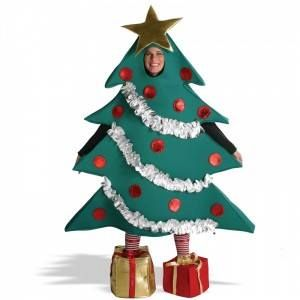 You Know There Will Be Dozens Of Santas Elves And Reindeer At Your Staff Christmas Party So Why Christmas Tree Costume Tree Costume Tree Halloween Costume