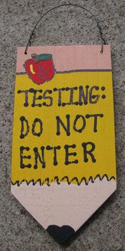 Teacher Gifts Wooden Pencil  19 Testing Do Not by NannieandBCrafts, $2.25