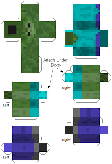 Make Your Own Minecraft Zombie Character Print Out Papercraft