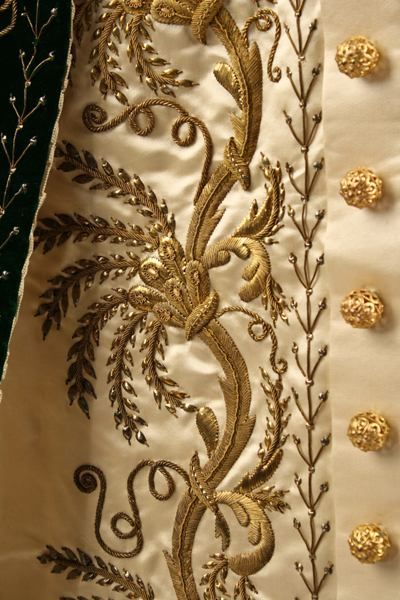 Embroidered detail of the Russian Court dress ~ ca.1900
