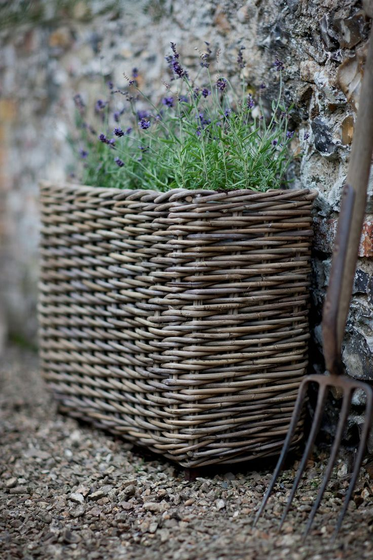 Shades Of Lavender Rattan Planters Garden Containers