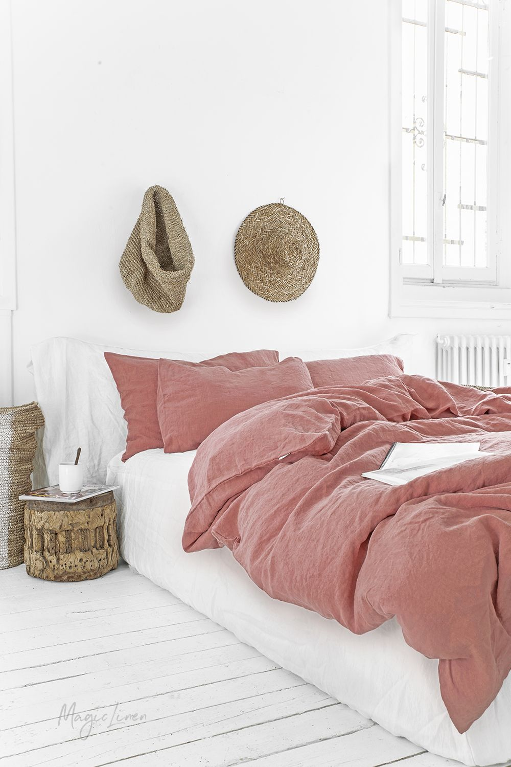 Invite Spring Into Your Bedroom With Our New Rust Pink Linen