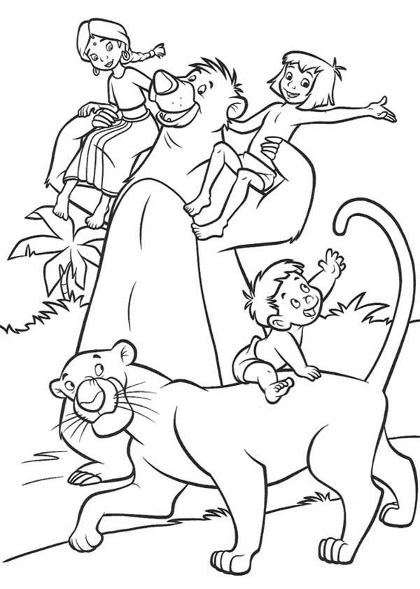 The Jungle Book The Jungle Book Characters Coloring Page Coloring Books Jungle Book Characters Cartoon Coloring Pages