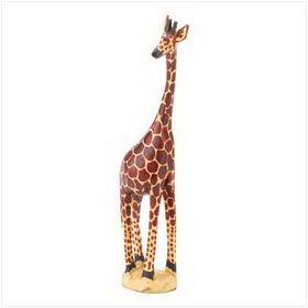 Furniture Creations Kenyan South Africa Wooden Giraffe Figurine