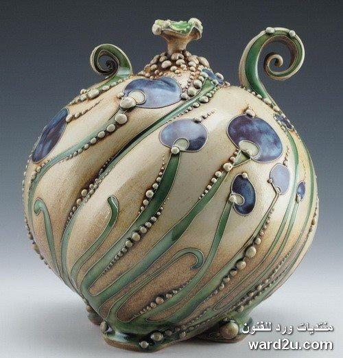 زخارف نباتية خزفيات رائعة للفنانة Carol Long الصفحة 3 Pottery Art Clay Pottery Ceramic Pottery