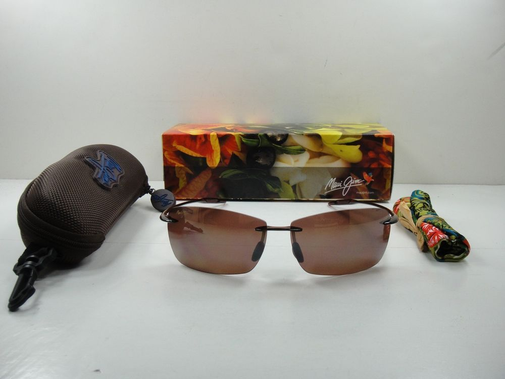 8ccc9e444bf MAUI JIM LIGHTHOUSE POLARIZED H423-26 SUNGLASSES ROOTBEER HCL BRONZE LENS  (eBay Link