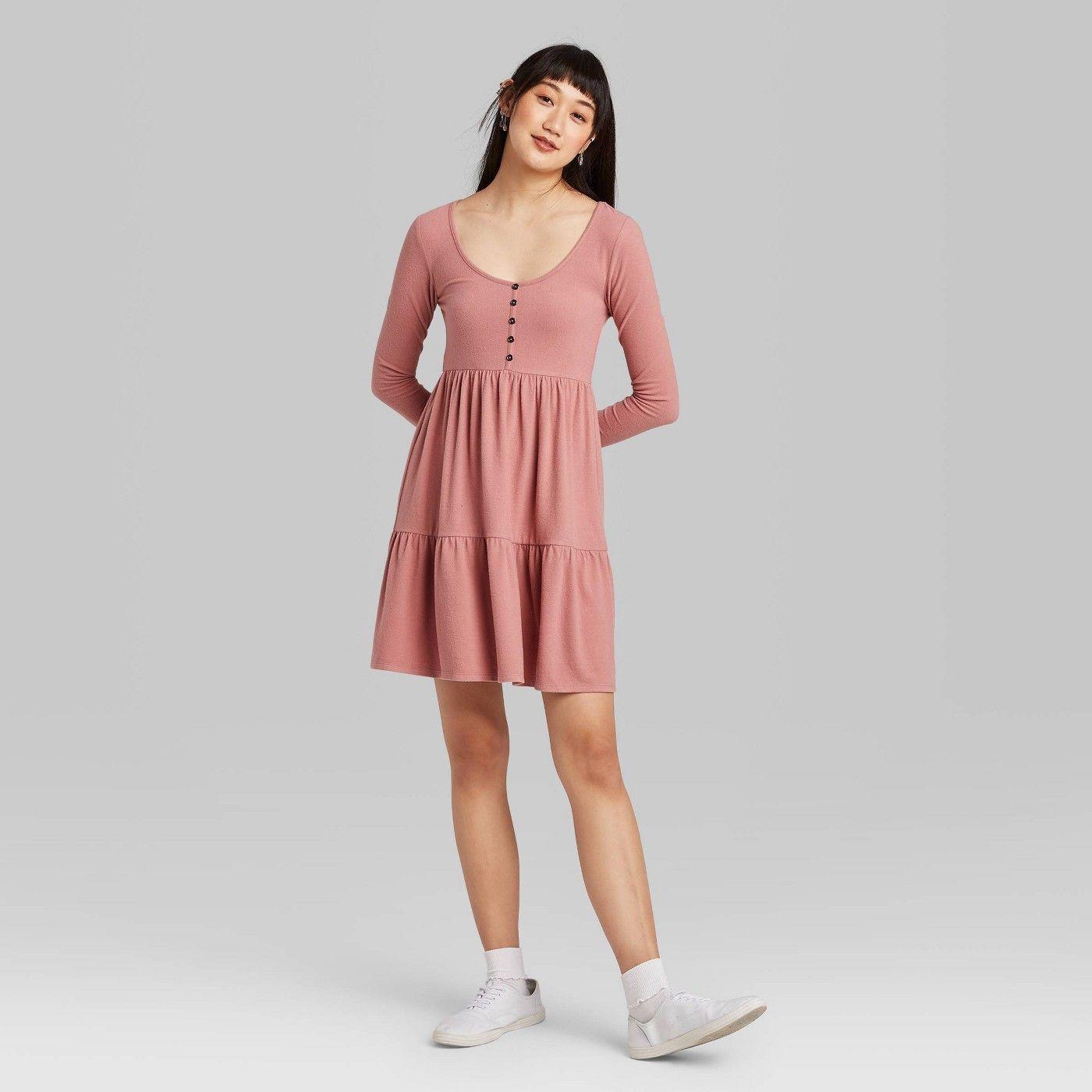 Women S Long Sleeve Round Neck Tiered Babydoll Dress Wild Fablea 20 Affiliate Sleeve Ad Neck Women [ 1400 x 1400 Pixel ]
