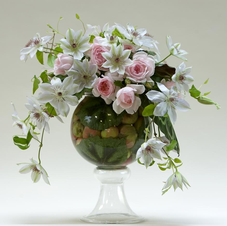 Craft supplies floral arrangement and flowers