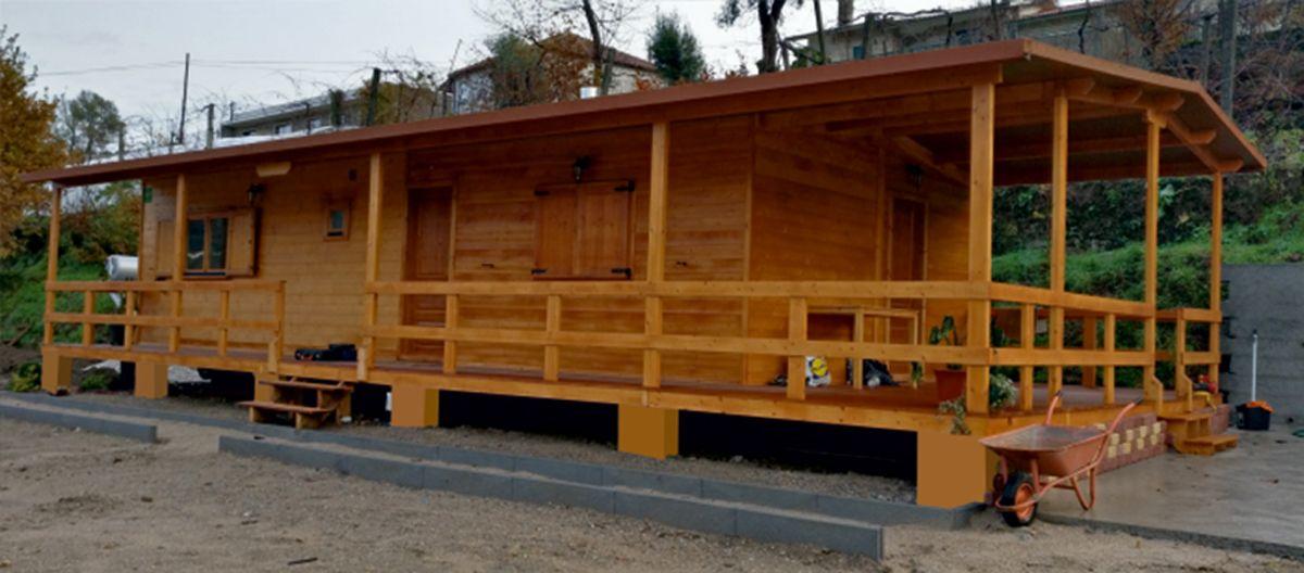 Pin em casas de madeira