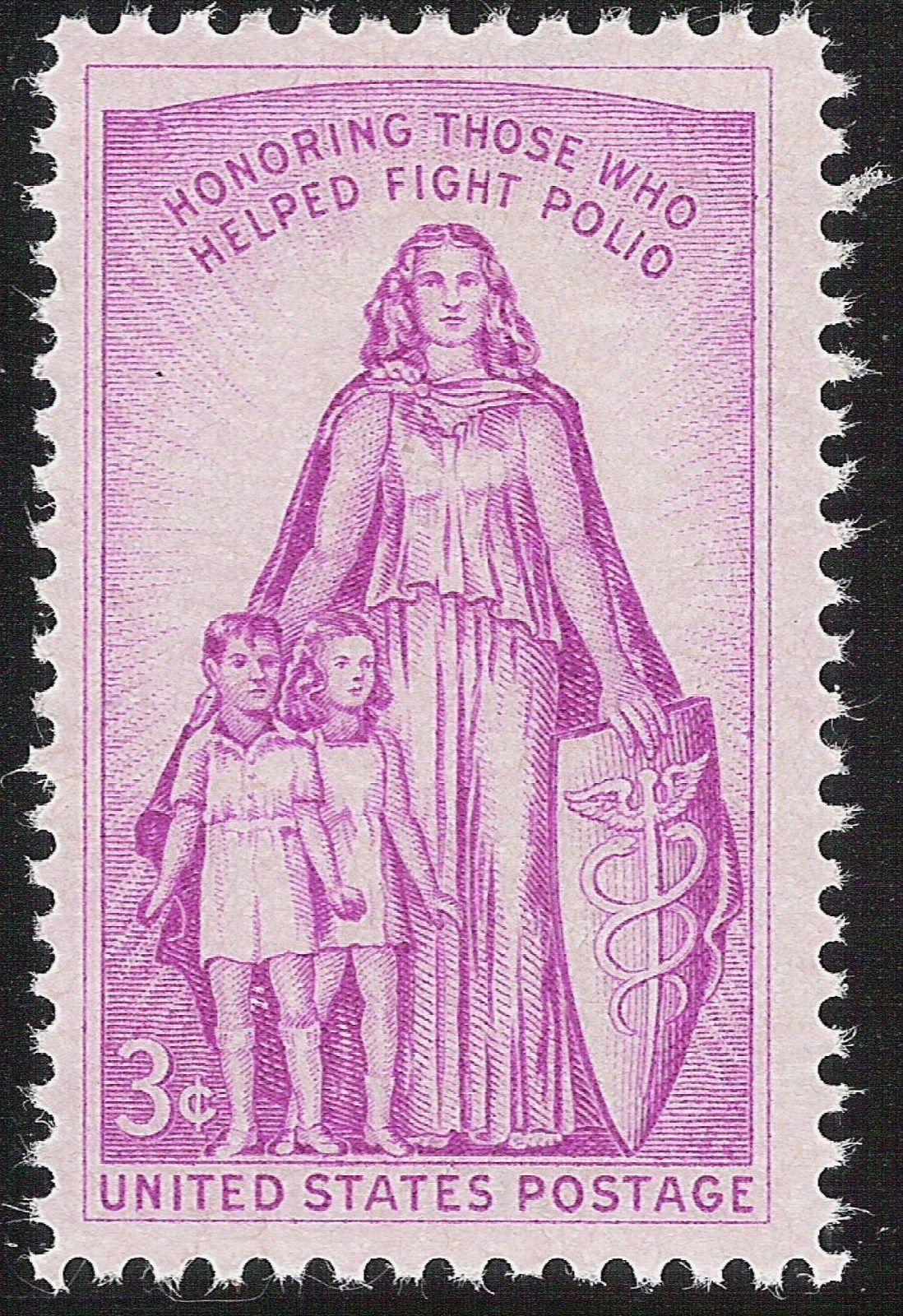 Scott 1087 Honoring Those Who Fight Polio Unused US Stamp 3c