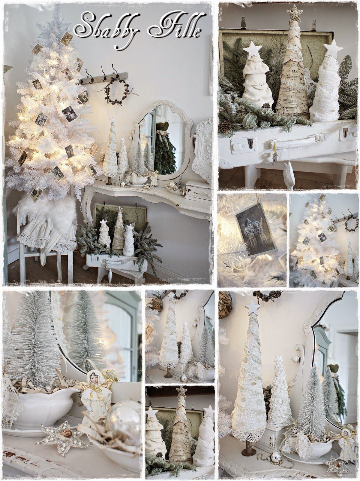 shabby weihnachtsdeko christmas pinterest shabby filles et d co. Black Bedroom Furniture Sets. Home Design Ideas
