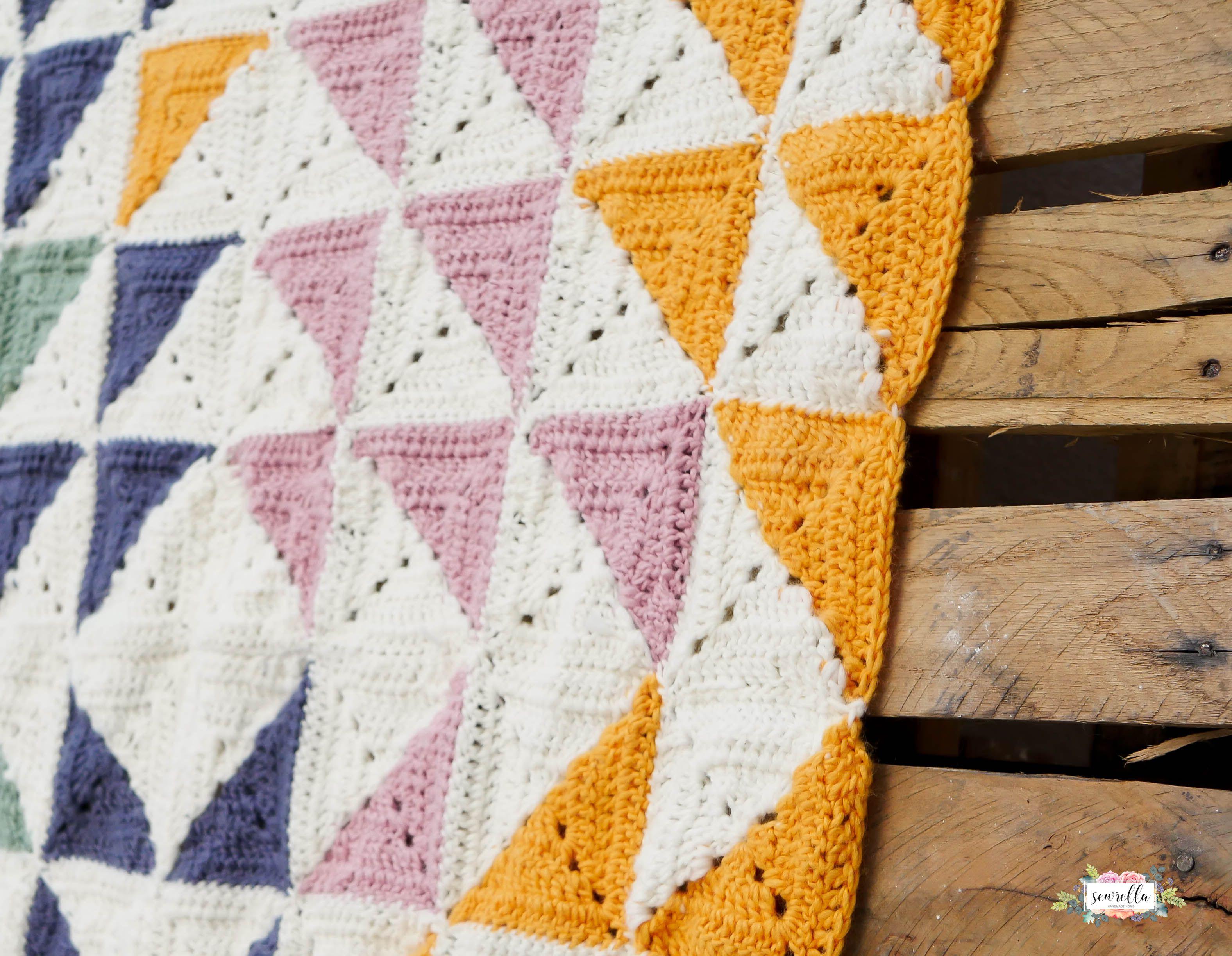 Crochet Kaleidoscope Baby Blanket