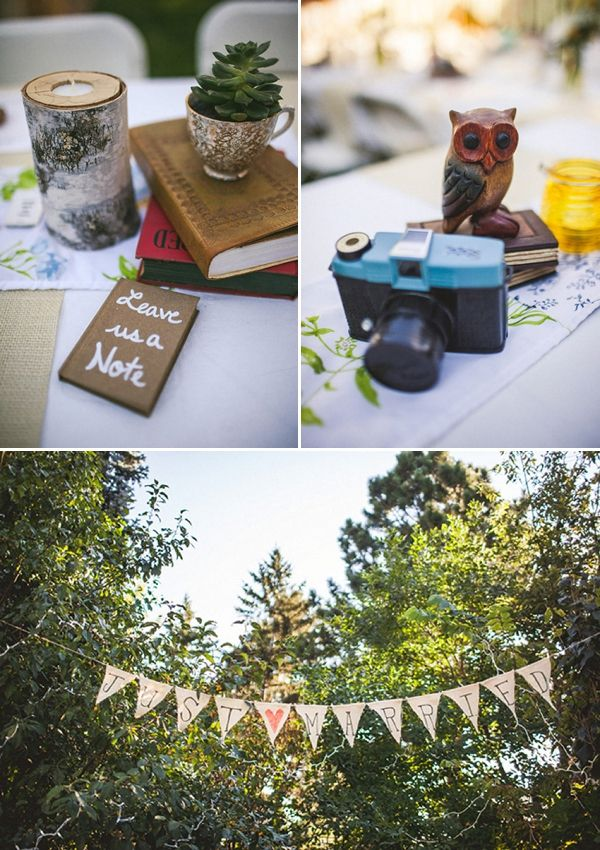 pennants  diy backyard wedding backyard reception diy