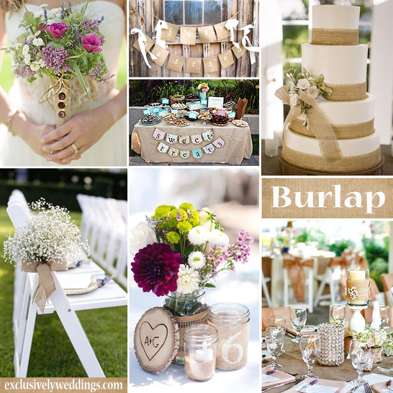 What Colors Go With Burlap Wedding Decoration