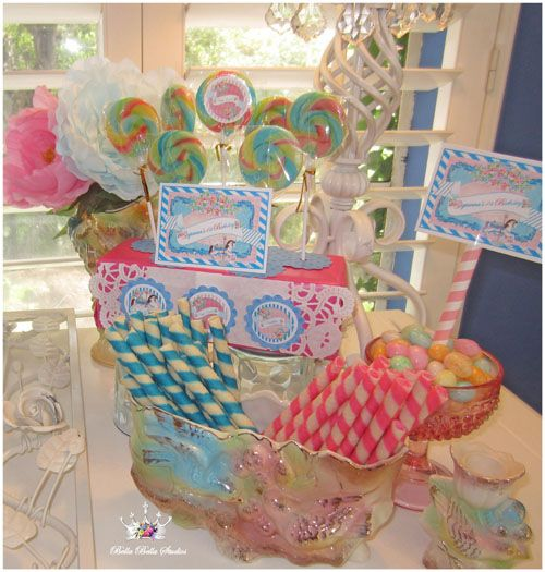 Vintage Carousel Horse Themed First Birthday Party At The
