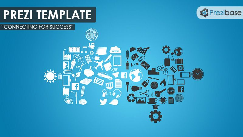 Business Related Prezi Template With A Team Concept Various