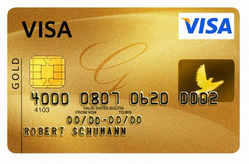 Visa credit card no