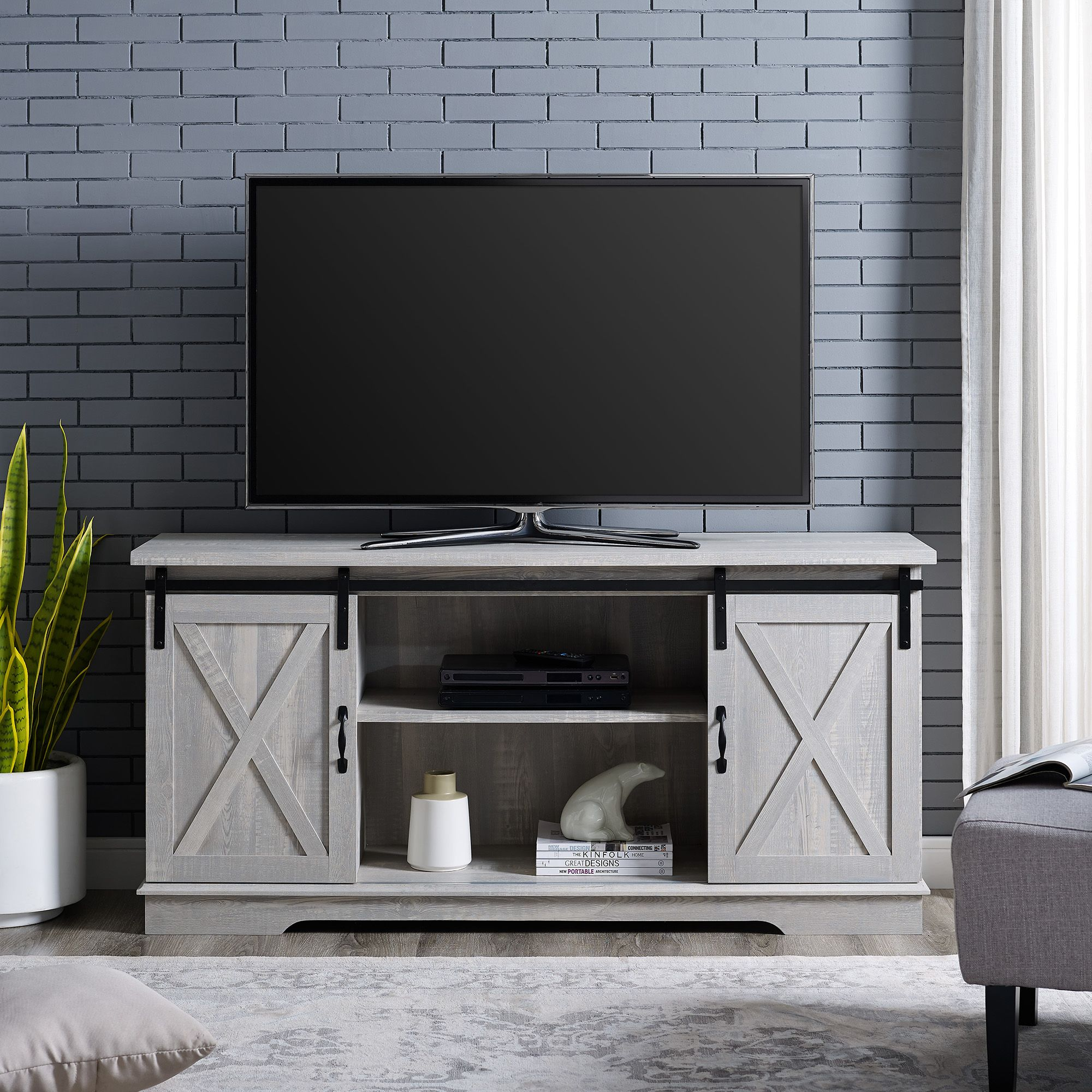 Home Barn Door Tv Stand Farmhouse Tv Stand Tv Stand Walmart