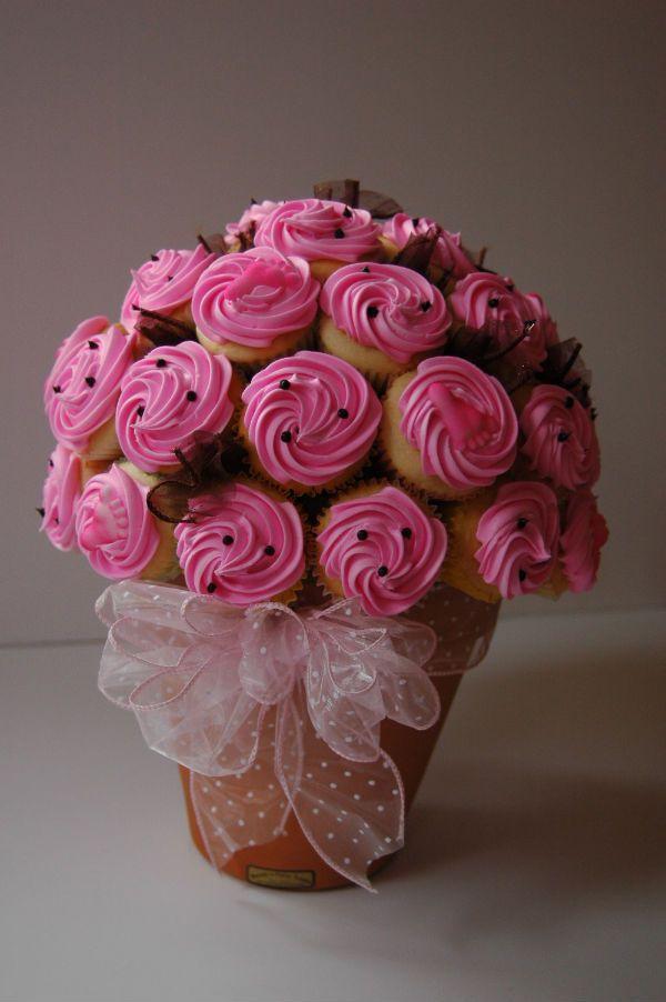 Cupcake Bouquet Flower Pot Styrofoam Ball Toothpicks