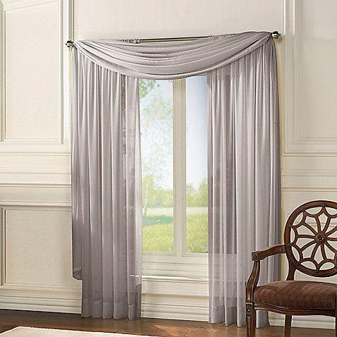 Classic Chiffon Window Curtain Panel Home Sheer Window Panels
