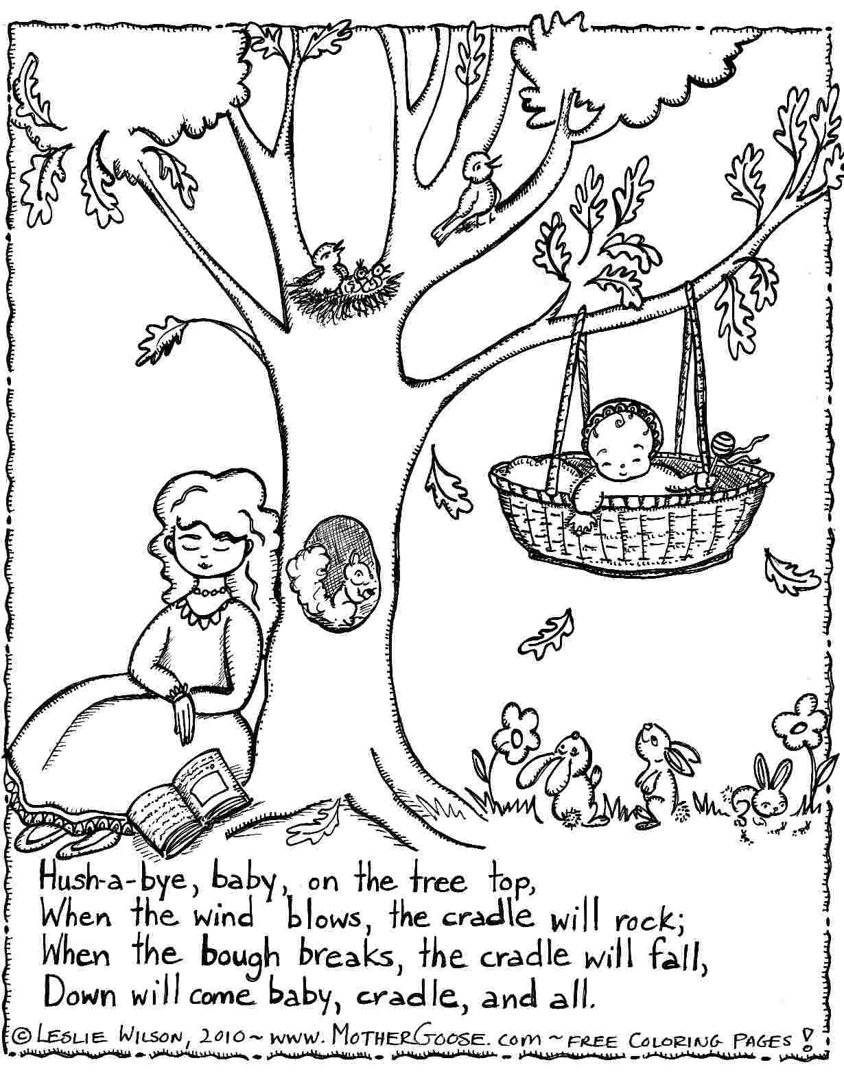 Nursery Rhymes Coloring Pages With Words In